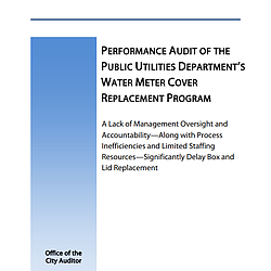 Performance Audit Of The Public Utilities Depar...