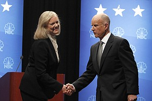 Brown, Whitman Clash In Final Debate