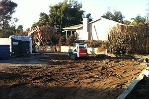 Ashes Hauled Away From Escondido 'Bomb Home'
