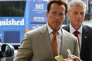 Tease photo for Schwarzenegger Reveals He Had Child With Staffer