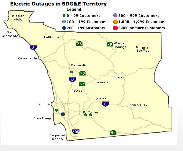 Power Restored For SDG&E Customers In Linda Vista Area | KPBS on