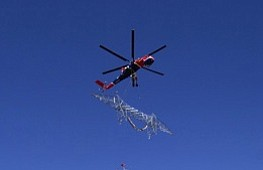 State Grounds Helicopters Working On Sunrise Powerlink