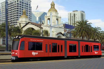 San Diego Mts Unveils Accessible Low Floor Trolley Cars