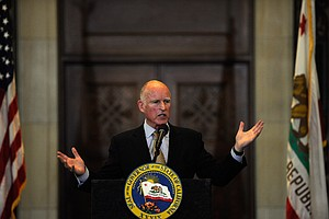 Gov. Brown Pushes Tax Initiative In San Diego