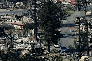 Tease photo for SDG&E Cut Spending On Powerlines Before 2007 Wildfires, Say Lawyers For Homeowners
