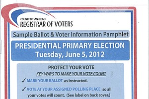 A Primer On Your Primary Election Ballot For San Diego County