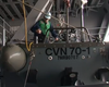 USS Vinson Sailors Perform Repairs On Ship (Video)