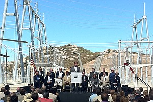 Tease photo for Governor Brown, Schwarzenegger Dedicate Sunrise Powerlink Amid Protests
