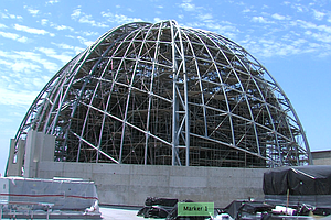 Tease photo for Construction Crews Put Dome On Central Library