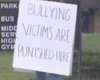 Navy Veteran Dad Pickets School Where Son Was Bullied (Video)
