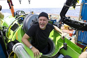 James Cameron Receives Award for Promoting Deep-Sea Explo...
