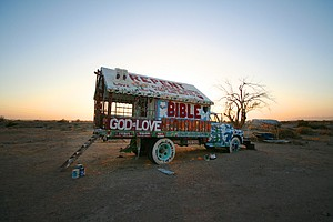 Leonard Knight Makes A Visit To Salvation Mountain
