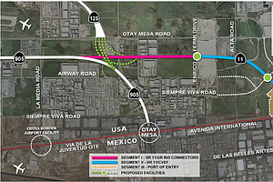 Tease photo for New San Diego-Tijuana Border Crossing Would Charge Toll To Manage Traffic