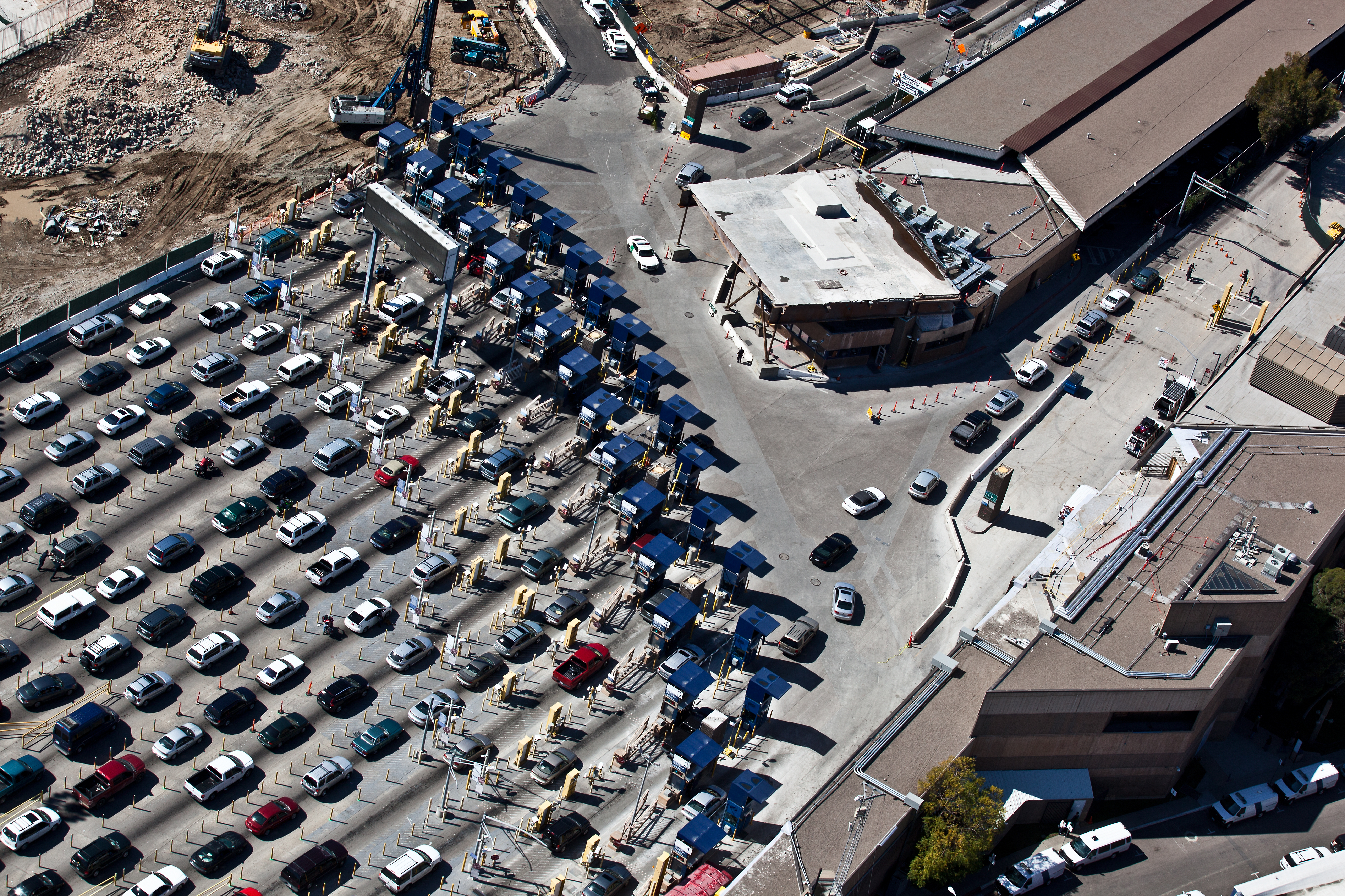 Technology May Speed Crossings At USMexico Border KPBS - Aerial maps over mexican us border