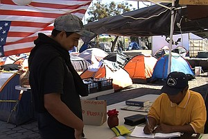Tijuana Plaza Becomes Haven For Deported Migrants