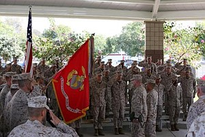 Tease photo for Camp Pendleton Marine Unit Among Last Deployed To Afghanistan