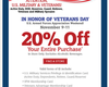 Retailers Offering Discounts To Military Families For Veterans Day