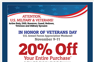 Retailers Offering Discounts To Military Families For Vet...
