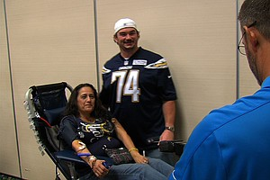 More Than 2,000 Donate At San Diego Chargers Annual Blood...