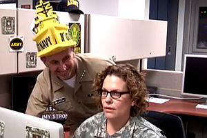 Tease photo for Army-Navy Game Spirit Video Parodies GEICO Hump Day Camel Commercial