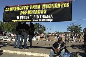 Tease photo for Deportee Camp in Tijuana Plaza Disbands