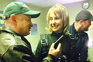 Tease photo for Giffords Skydives To Mark Anniversary of Shooting
