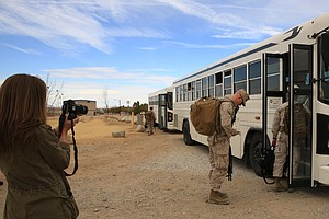 Camp Pendleton Marines, Sailors Head To Afghanistan For W...