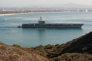 USS Ronald Reagan Leaving San Diego For New Homeport In J...
