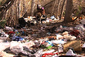 Tease photo for San Diego River Restoration Involves Clearing Homeless, And Their Trash