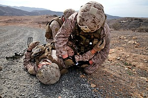 Tease photo for Camp Pendleton EOD Marines Prep For Afghanistan Deployment (Video)