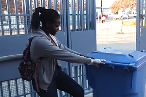 City Heights School Opens Recycling Bins To Parents