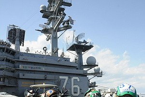 USS Ronald Reagan Holds Ceremony To Mark Japan Earthquake...