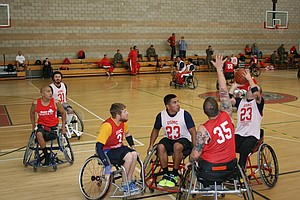 Tease photo for Wounded Warriors Compete In Paralympics Invitational At Camp Pendleton