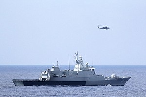 Tease photo for San Diego-Based USS Pinckney Ends Its Search For Malaysia Airines MH370 (Video)