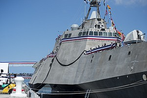 Navy Commissions USS Coronado In Ceremony At North Island