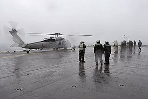 Tease photo for USS Bonhomme Richard Searches For Survivors Of South Korean Ferry Disaster (Video)