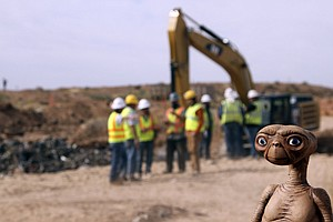 Tease photo for E.T.'s Home Is Found: Trove Of Atari Games Unearthed At Landfill