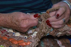 Tease photo for Volunteers Help San Diego Homeless And Environment With Handcrafted Mats