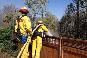 Tease photo for Santee Brush Fire Flare-Up Fully Contained