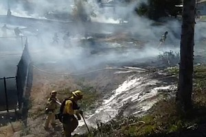 Crews Stop Brush Fire In Spring Valley Before It Reaches ...