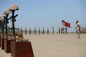 Last U.S. Marines Leave Afghanistan's Sangin District (Vi...