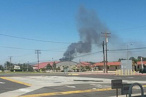 Tease photo for Brush Fire Off I-5 Near Camp Pendleton Grows To 8,000 Acres