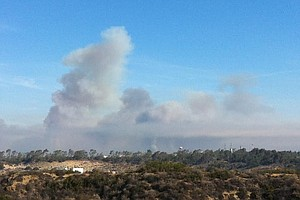 Crews At Camp Pendleton Battling Three Large Brush Fires