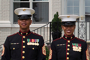 Tease photo for Marine Corps Female Dress Blue Uniform Could Become Same As Men's