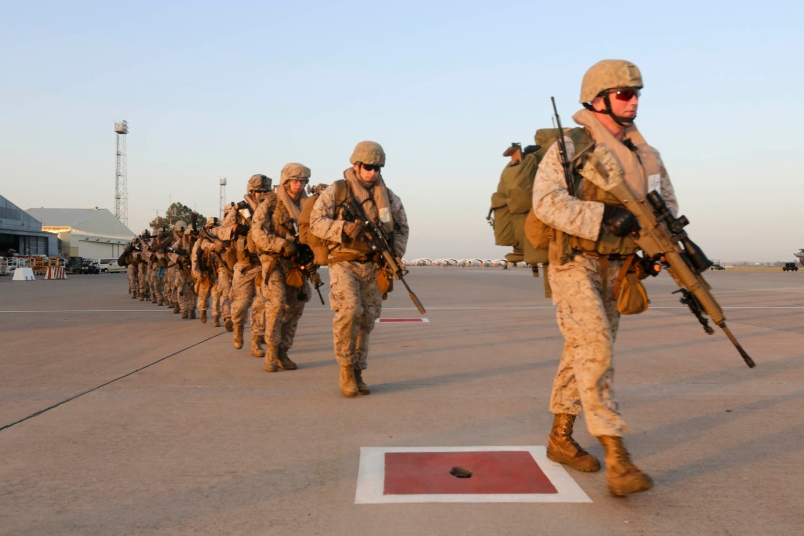 250 US Marines Moved To Italy Due To Unrest In Libya (Video