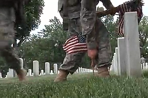Tease photo for 'Flags In' At Arlington, A Memorial Day Tradition (Video)
