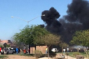 Marine Harrier Jet Crashes In Imperial Valley Neighborhood