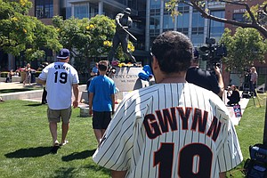 Fans Pay Tribute To Tony Gwynn At Petco Park Statue