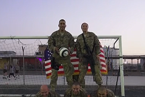 World Cup Fever: Soldiers In Afghanistan Give Team USA Sh...