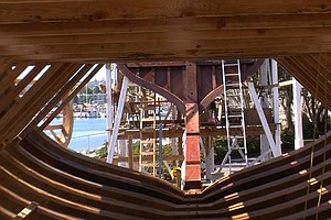 Final Plank Of San Salvador Replica's Hull Now In Place